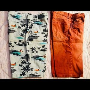 Bundle - 2 pairs of boys shorts, size 14